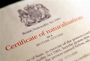 Sertifikaat van Britse burgerskap