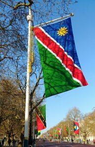 Die vlag van Namibië