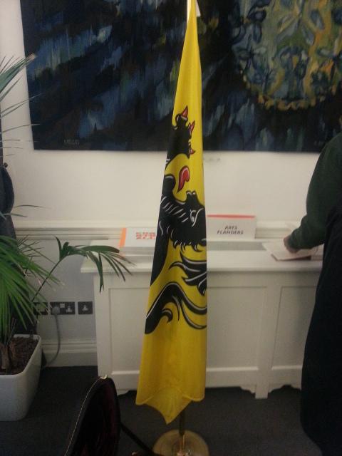 Die vlag van Vlaandere