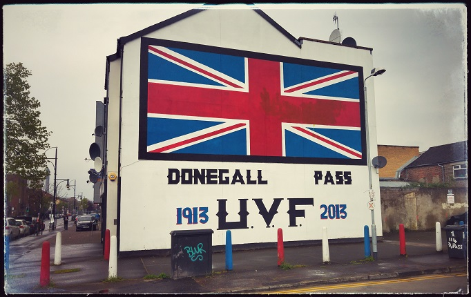 'n Loyalist muurskildery in Belfast