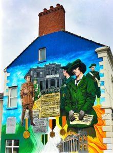 'n Republican mural op die Ormeaupad'n Republican muurskildery op die Ormeaupad