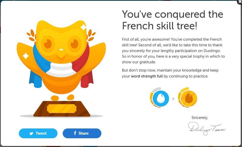 Frans op Duolingo