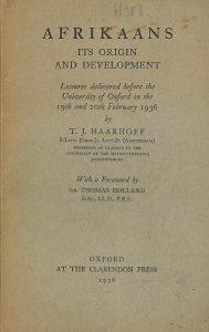 Afrikaans Its Origins and Development