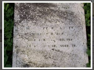 Die graf van Mowbray Norse Cloete - foto uit die South Africa War Graves Project