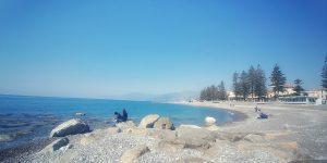 Die strand in Bordighera, Italië