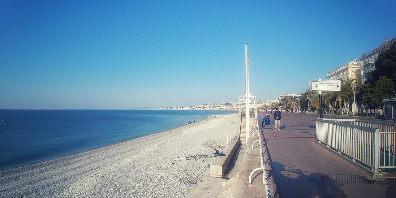 Die strand in Nice