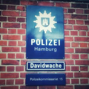 Die polisie stasie op die Reeperbahn