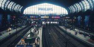 Hamburg hoofstad waar reisigers kom en gaan weg