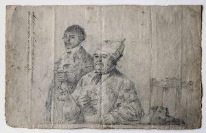 Augustus van Bengale hou Hendrik Cloete se pyp vir hom, c. 1788.